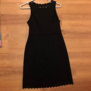 Ann Taylor LOFT Petite Black Business Dress